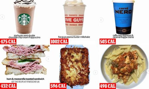 The DRINKS that are more calories than your meal