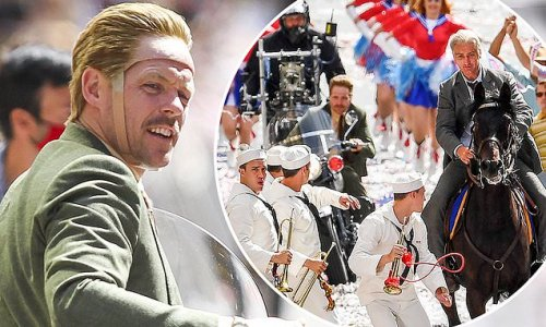Indiana Jones 5 stuntman dons quirky helmet with a wig to film scenes