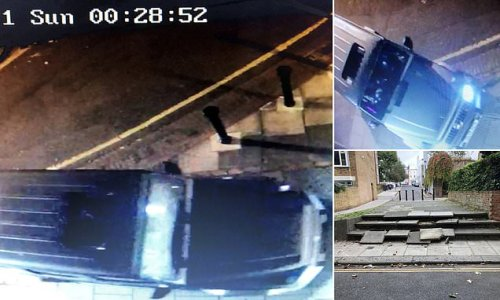 Driver races down steps and along footpath FOUR TIMES in one hour