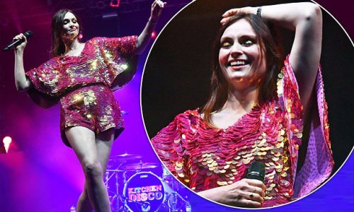 Sophie Ellis-Bextor wows in sequin playsuit at Isle Of Wight Festival