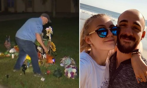 Gabby Petito memorial at Laundrie family home removed by authorities