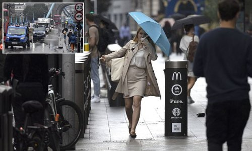 Thunderstorms are set to batter Britain with 12 HOURS of downpours