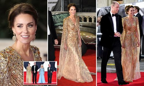Kate joins Prince William, Prince Charles and Camilla at Bond premiere