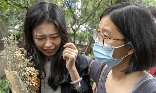 Woman who became face of China's #MeToo movement SHOVED outside trial