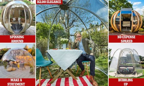 Invite your chums round to chill out with a glamorous garden igloo