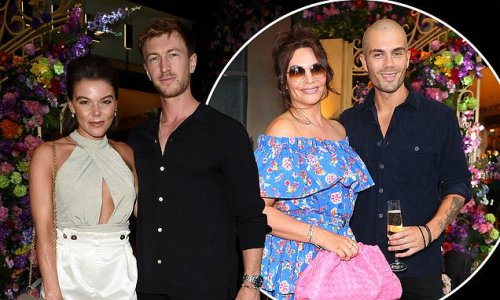 Faye Brookes and Max George celebrate Freedom Day in Manchester