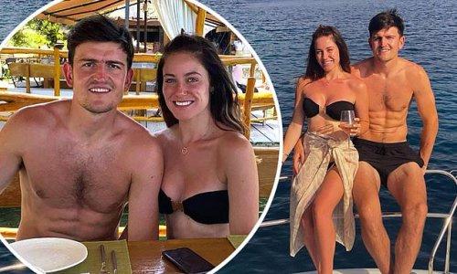 Harry Maguire soaks up the sun with fiancée Fern Hawkins in Croatia