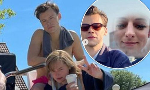 Emma Corrin cosies up to shirtless My Policeman co-star Harry Styles