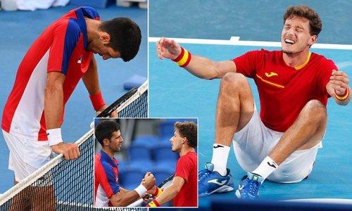 Novak Djokovic LOSES bronze medal match against Pablo Carreno Busta