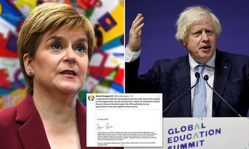 Nicola Sturgeon challenges Boris Johnson to face-to-face talks