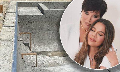 Khloe Kardashian checks on construction of her $17M Hidden Hills home
