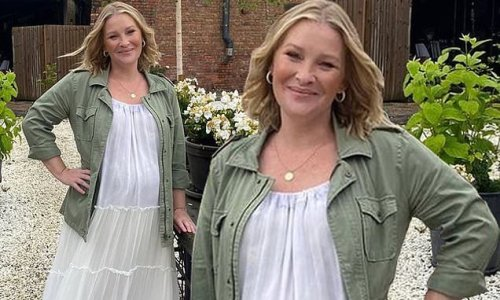 Joanna Page, 44, reveals she is pregnant with her fourth child
