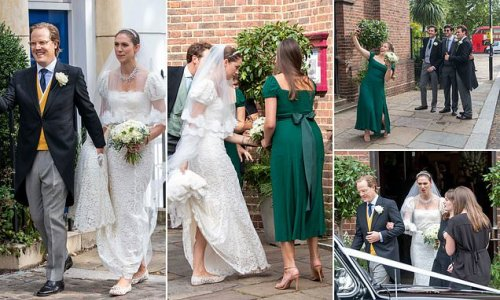 Sabrina Percy ties the knot with Phineas Page in London