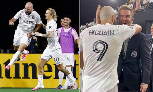 Beckham hugs Higuain after Inter Miami keep play-off hopes alive