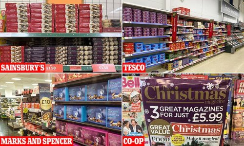Supermarkets are ALREADY selling festive products - before Halloween