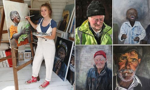 Teen who took up painting in lockdown has work hung at Royal Academy