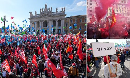 Protestors take to the streets of Italy in anti-fascist rally