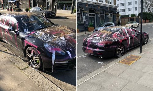 Yobs spray-paint £90,000 Porsche with words 'April Fool' - Flipboard