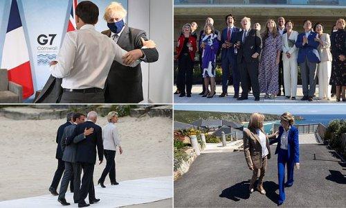Leaders slammed for ignoring social distancing G7 summit