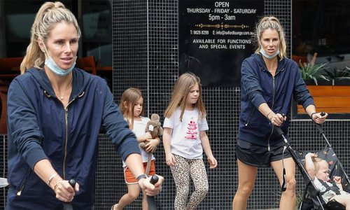 WAG Candice Warner takes a stroll down Melbourne's Chapel Street