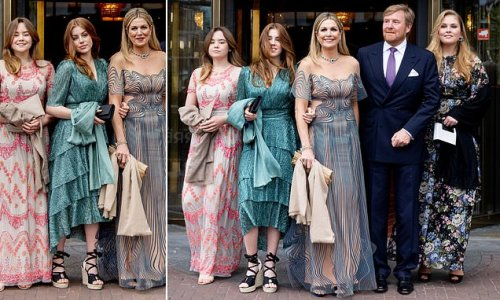 Queen Maxima and her family step out for a glamourous night out