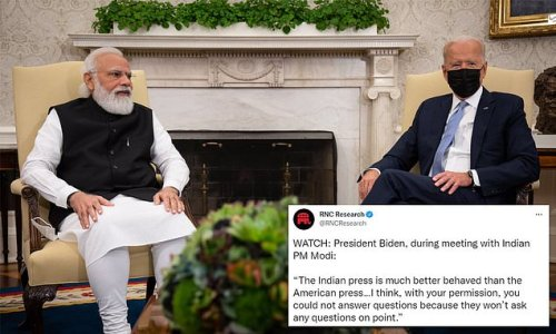 Biden says Indian press is 'much better behaved' than American press