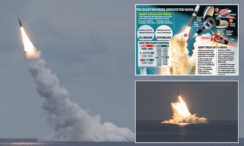 Biden warns China: USS Wyoming test launches Trident II missiles