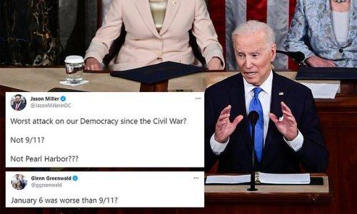 Twitter furious as Biden calls Jan 6. attack 'worst since Civil War'