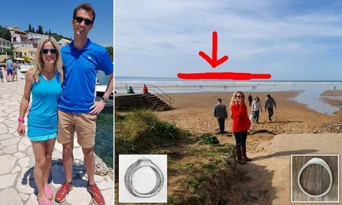 Couple amazed as wedding ring they lost at sea turns up months later
