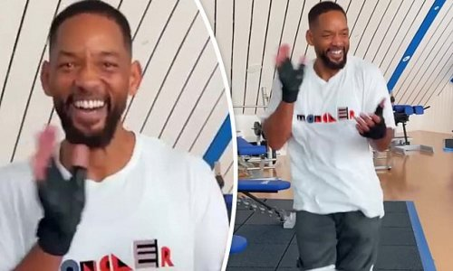 Will Smith does country dance after vowing to lose 'pandemic weight'