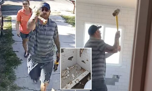 Moment Colorado angry contractor sledgehammers remodeled bathroom