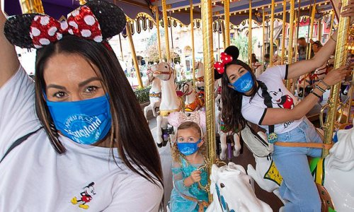 Brie and Nikki Bella celebrate Birdie Joe's birthday at Disneyland