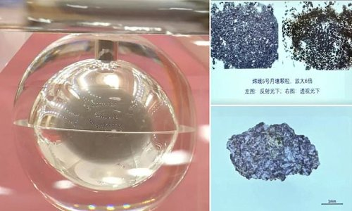China shares images of moon samples its Chang'e-5 mission collected
