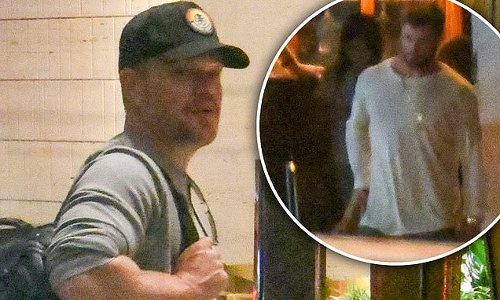 Chris Hemsworth and pal Matt Damon touch down in Sydney on private jet