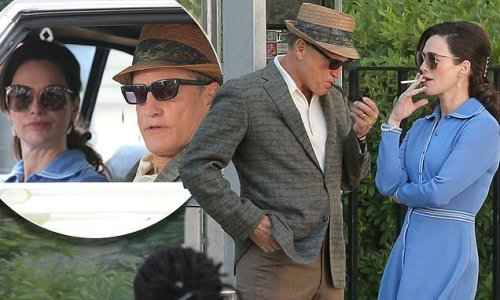 Lena Headey and Woody Harrelson film The White House Plumbers