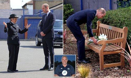 Prince William in tribute to shot dead officer Sergeant Matt Ratana