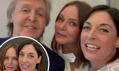 Stella and Mary McCartney sing 'Happy Birthday' to father Sir Paul, 79
