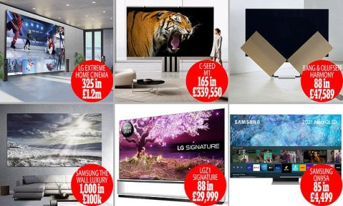 The £1.2million telly! Top tip: Don't lose the remote!