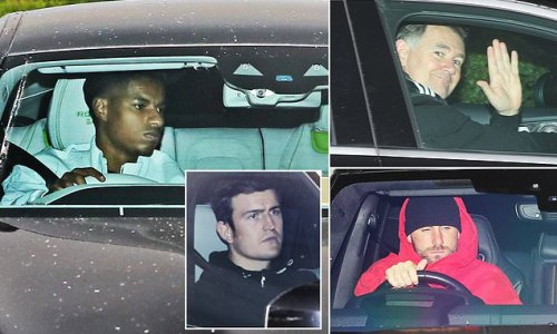 Man United stars arrive for training after Liverpool humiliation