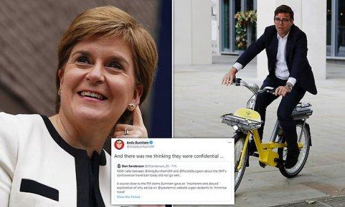 Sturgeon and Burnham reignite Manchester-Scotland travel ban feud