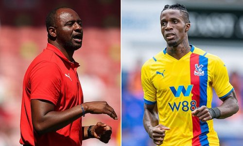 Patrick Vieira is determined to keep Wilfried Zaha at Crystal Palace