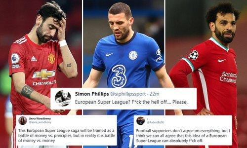 'Absolutely f**k off': Fans SLAM plot for European Super League