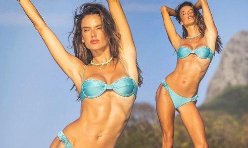 Alessandra Ambrosio models GAL Floripa bikini in her native Brazil