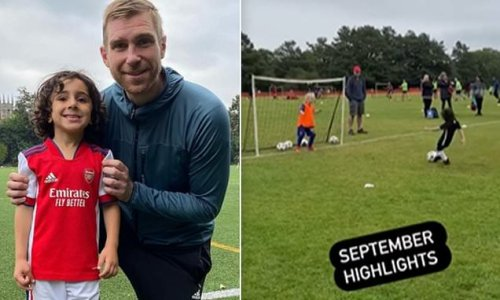 Arsenal sign a FOUR-YEAR OLD dubbed 'little Messi'