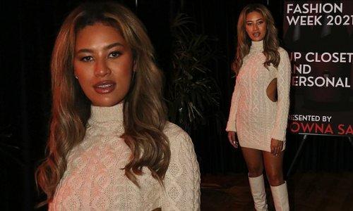 Montana Brown wows at Vas J Morgan's London Fashion Week party
