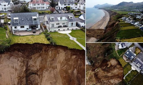Families living near crumbling cliffs are urged to abandon homes