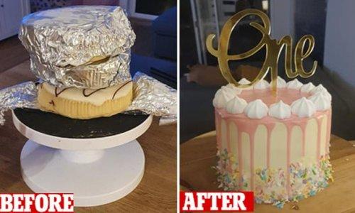 Mum turns $4.80 Woolworths mudcakes into an epic birthday dessert
