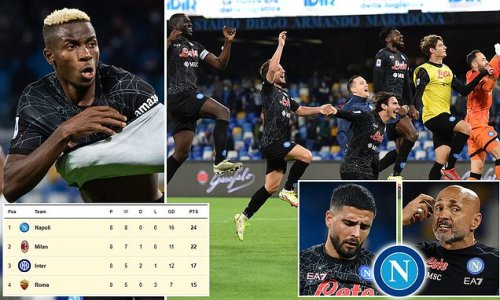 Eight wins from eight at the top of Serie A - Napoli are back
