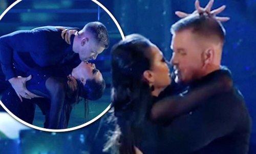 Strictly fans go wild as Adam Peaty and Katya Jones 'nearly KISS'