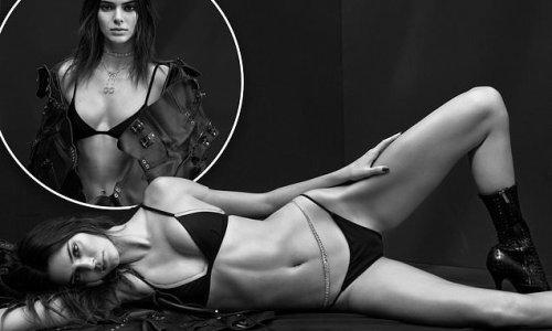 Kendall Jenner sizzles in black bikini as she models for V130